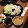 ชุดผักพร้อมน้ำจิ้มสำหรับชาบูชาบู