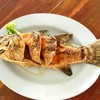 ปลากะพงทอดน้ำปลา [400.-]