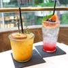 Mango Passion Fruit (145฿) / Lychee Berry Soda (145฿)