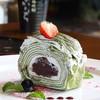 โรลชาเขียว (Green Tea Crape Roll) ชอบใจมาก