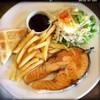 สเต็คปลาแซลมอน (160฿)