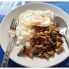 (35฿) กระเพราไก่+ไข่ดาว