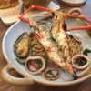 Grilled River Prawn Spaghetti With Seafood