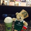 หมีบารีสต้าฮ่องกง Green Tea Frappuccino 50% @ Starbucks Central World