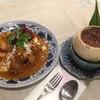 มากับข้าวที่หอมและอมหวานอย่างกลมกล่อม แถมเนื้อมะพร้าวเผาที่อร่อยมากด้วย