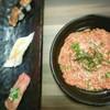 อาหารที่สั่ง - Negi Toro Don กับ Sushi แบบเผาไฟ 3 คำ