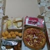 Hawaiian Pizza, Spaghetti, Wings, Garlic Bread and Cheesy Pops