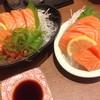 Jumbo salmon sashimi