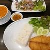 ข้าวปลาทอด + ต้มยำกุ้ง