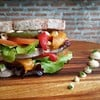 Grilled vegetables and cashew cheese whole wheat sandwich