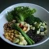 Green Power Bowl (sauce: hummus and pesto)