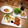 Chicken Spicy & Black Pepper Pork Steak, Caesar Salad, Spaghetti Pad Kee Mao