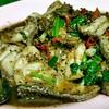 เนื้อปลาผัดพริกไทยดำ ปลาสดชิ้นใหญ่