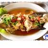 ปลาเก๋านึ่งบ๊วย ปลาสดๆ เป็นๆ นำมาปรุงอาหาร เนื้อหวาน นุ่มถูกใจ คอปลานึ่งเป็นแน่