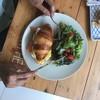 Egg Benedict croissant