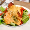 Grilled Salmon & Roasted Vegetables Salad (230THB)