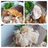ไก่ต้มนุ่มฉ่ำเนื้อแน่นกลางๆ ไก่ทอดกรอบนอกนุ่มใน น้ำจิ้มติดหวาน