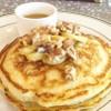 Banana Walnut Pancake with Warm Maple Butter