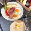 Breakfast Set A :2 Eggs(Fried Eggs Or Scrambled Eggs)+2toast+Ham+Bacon
