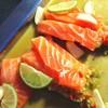 ปลาแซอลมอนชิ้นหนา สดดี น้ำยำก็อร่อย เสียดายหมดเร็ว เดินหลายรอบแล้วก็หมด😅😅