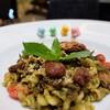 Quinoa-Fusilli with Pesto & Vegan Chickens