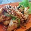 ปลาหมึกผัดซอสเกาหลี รสเผ็ดอ่อนๆ ทานกับข้าวสวยร้อนๆ ก็อร่อยดี