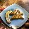 เฟรนช์โทสต์ กล้วยหอมย่าง ทานคู่กับไอศกรีมวานิลา ราดเมเปิ้ลไซรัปหอมๆ ฟินมากกกกกก
