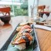 Tamago, Salmon, Anago, and Foie gras