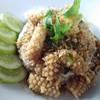 ข้าวหมึกกระเทียมพริกไทย