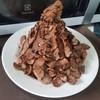 มาดับร้อน ด้วยปังเย็นโก้โก้เข้มข้น ราดด้วยผงโอวัลติน และ ซอสช็อคโกแลต พร้อมโกโก้