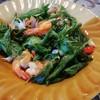 กุ้งทอดกะเพรากรอบ กุ้งทอดกรอบมากกินได้ทั้งหาง กระเทียม พริก กะเพรา กรอบมาก รสชาต