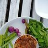 น้ำพริกกุ้งเสียบและผักสด