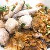 ข้าวแห้งหมูล้วน (Rice bowl Pork served with clear soup)