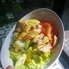 Chicken Breast with Avocado dip, tomato, Iceberg lettuce, onion, homemade mayo