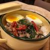 ข้าวกะเพราไก่+ไข่ยางมะตูม