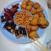 มะเขือยัดไส้หมูอร่อย ปลาบดใส่กุ้งพันสาหร่ายอร่อย
