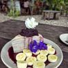 เครปเค้กออแกนิกส์ ทำจากแป้งข้าวกล้องและแป้งข้าวไรซ์เบอร์รี่