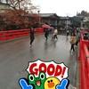 สะพานแดง Nakabashi จุดถ่ายรูป ข้ามไปยังฝั่งหมู่บ้านโบราณ