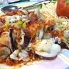 ปลาหมึกไข่ตัวใหญ่ราดด้วยน้ำจิ้มซีฟู้ดรสเด็ด