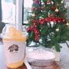 ส้มสมูทตี้ เค้กมะพร้าว ที่ ร้านอาหาร กาแฟพันธ์ไทย