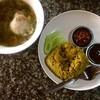 ข้าวหมกไก่ (50-.) ซุปไก่ไม่ใส่พริก (45-.)