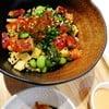 เปลี่ยนมะม่วงเป็นใส่ยำสาหร่าย เพิ่มกิมจิ ทานกับซอสspicy mayo