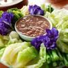 น้ำพริกกะปิ100บาท- มีให้ผักสดและผักลวก กลมกล่อมแต่เสียดายรสยังไม่จัด เท่าที่ควร