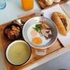 อาหารเช้า ชุดไข่กะทะ