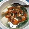 ต้มจืดปวยเล้งลูกชิ้นปลาใส่ไข่