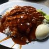 ข้าวหมูแดงกับกุนเชียง (ราคา 40 บาท)
