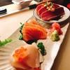 hotate salmon and tuna tataki