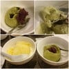 ไอศกรีมชาเขียวที่นี่อร่อย หอมมันนมกำลังดี สาคูพอใช้ทำมาแบบบิงซูหวานๆ