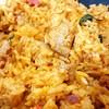 ข้าวผัดพริกแกงหมู+ไข่เจียว : จัดจ้าน แฉะๆ เครื่องแน่นดี ดีใช้ได้จ๊ะ