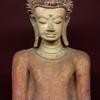 พระปูนปั้นอายุพันปี ศิลปะหริภัญชัย หรือ ลำพูนสมัยอยูใต้อิทธิพลของอาณาจักรนครวัด
